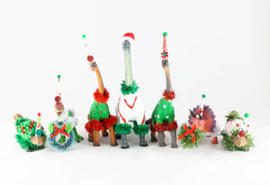 Christmas Ankylosaurus- Christmas decoration, cake topper