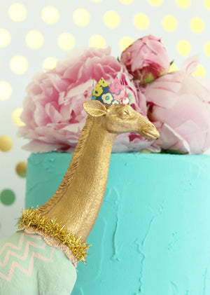 Gold Horse -cake topper, circus, and birthday decor