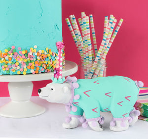 "Jumbo Party Animal  ""Stacie"" the Dog- cake topper and birthday decor"