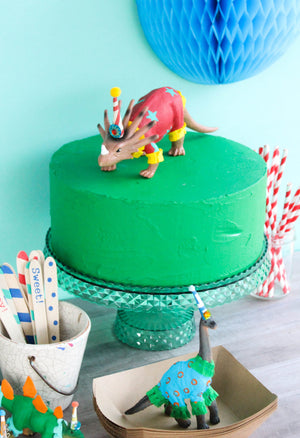 "Party Dinosaur ""Sandi""- painted birthday, and room decor"