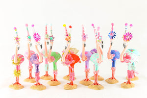 Holiday Flamingo- cake topper and party decor