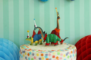 "Party Dinosaur ""Danny""- painted birthday, and room decor, cake topper"