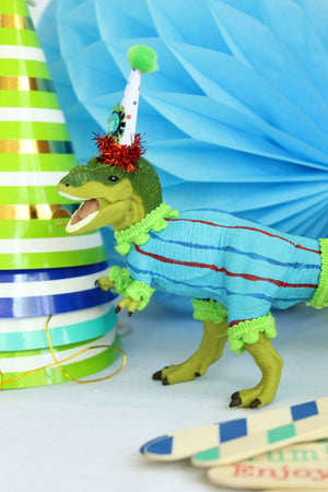 "Party Dinosaur ""Sammy""- cake topper, birthday party and room decor"