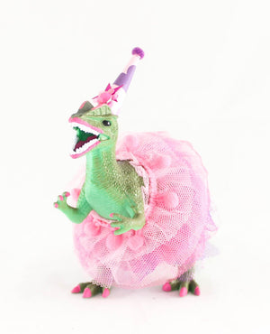 Custom Party Dilophosaurus with Tutu - painted birthday decor