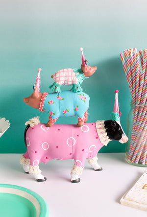 Jumbo Sheep- Painted animals, cake toppers, and birthday decor