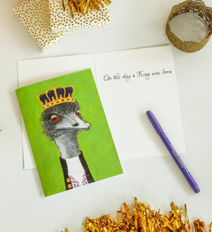 Emu Party Animal Greeting Card