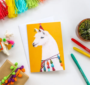 Llama Party Animal Greeting Card