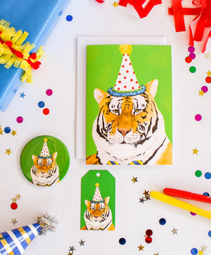 Tiger Party Animal Greeting Card