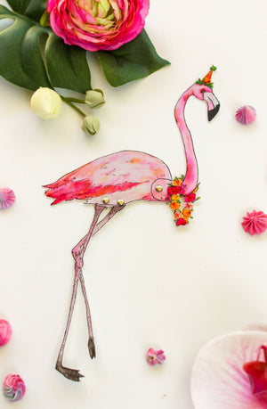 Flamingo Paper Doll