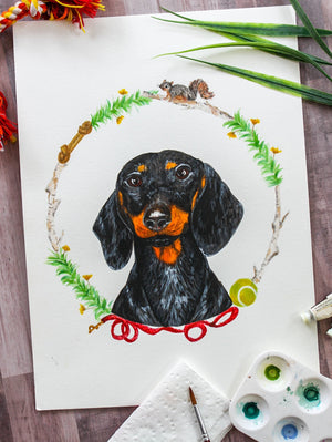 Dachshund Watercolor Print