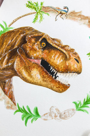 Trex Watercolor Print
