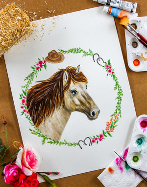 Horse Watercolor Print