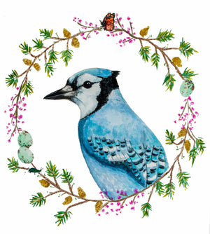 Blue Jay Watercolor Print