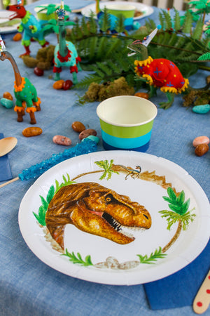 "Trex Party Plates- 9"" Wide Set of 8"