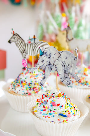 Party Animal Cupcake Toppers
