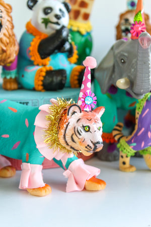 "Jumbo Party Animal  ""Mike"" the Lion painted carnival, circus, and birthday decor"