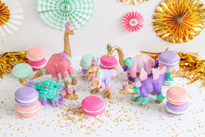 "Party Dinosaur ""Penny""- painted birthday, and room decor, cake topper"