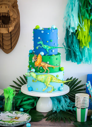 Dinosaur Paper Doll Cake Topper Set