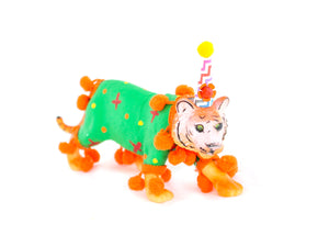 "Jumbo Party Animal  ""Wes"" the Tiger painted carnival, circus, and birthday decor"