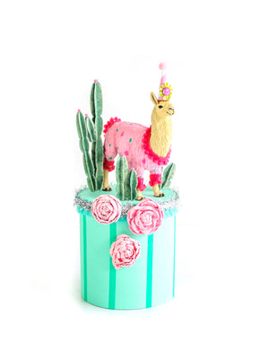 Llama Party Podium- centerpiece, party decor, cake topper