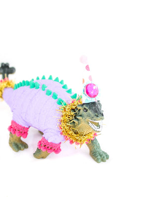 "Party Dinosaur ""Elizabeth""- painted birthday, and room decor"