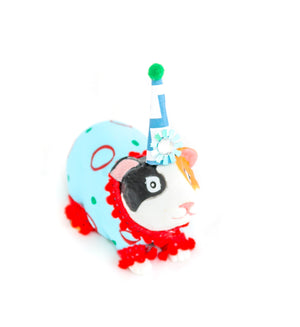"Party Animal ""Gus"" The Guinea Pig- painted carnival, circus, and birthday decor"