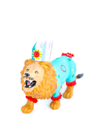 "Jumbo Party Animal  ""Andrew"" the Lion painted carnival, circus, and birthday decor"