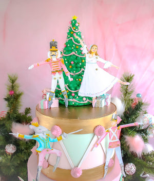 Nutcracker Paper Doll Cake Topper Set