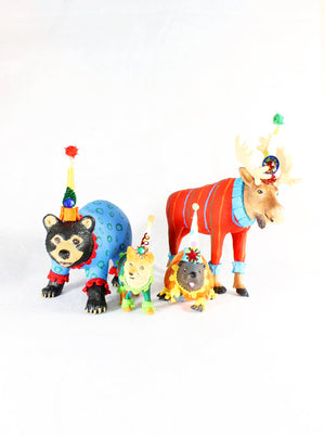 Custom Order Set of 4 Jumbo Woodland Animals- painted carnival, circus, and birthday decor