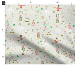 Mint Nutcracker Ballet Fabric