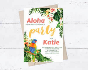 Tropical Birthday Invitation