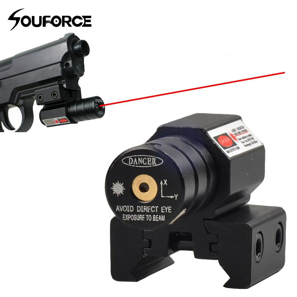 US Red Dot Laser Sight for Picatinny and Rifle with 635-655nm Adjustable 11mm/20mm Picatinny/Weaver Mount