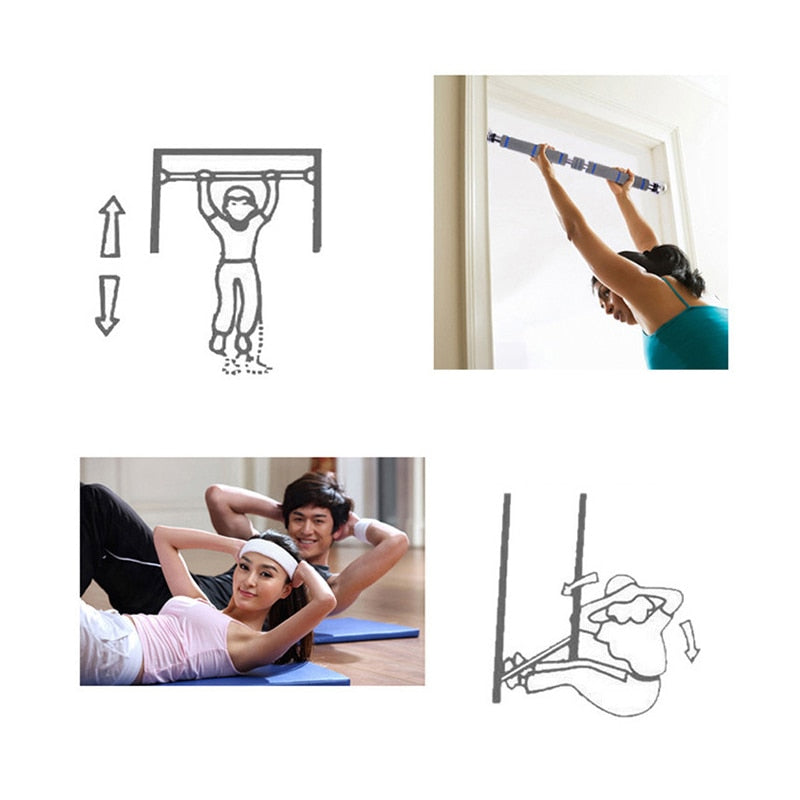 Door Horizontal Steel Adjustable Training Bars