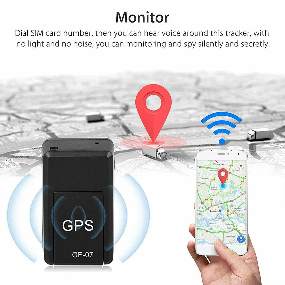 Mini GPS Tracker GF-07 GPS Magnetic SOS Tracking Devices For Vehicle Car Child Location Only For 2G