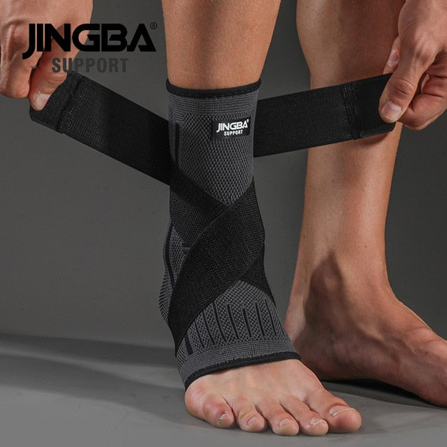 JINGBA SUPPORT 1 PCS 3D Compression Nylon Strap Belt Ankle Protector