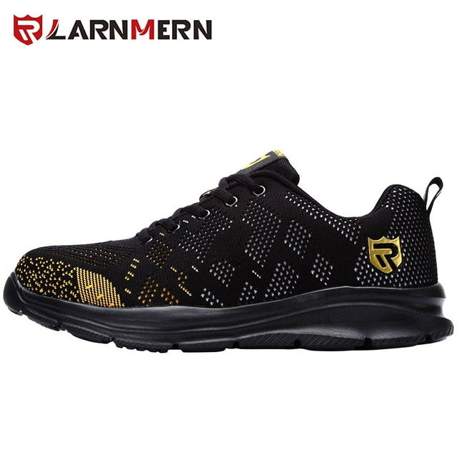 LARNMERN Lightweight Breathable Men Safety Shoes