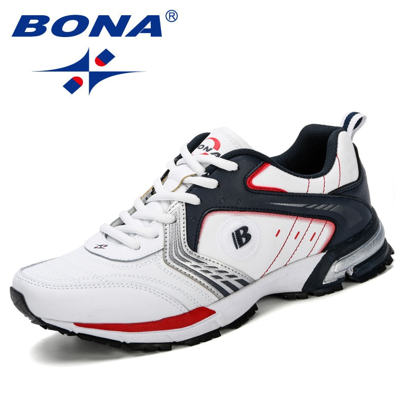 BONA Running Shoes Men Fashion Outdoor Light Breathable
