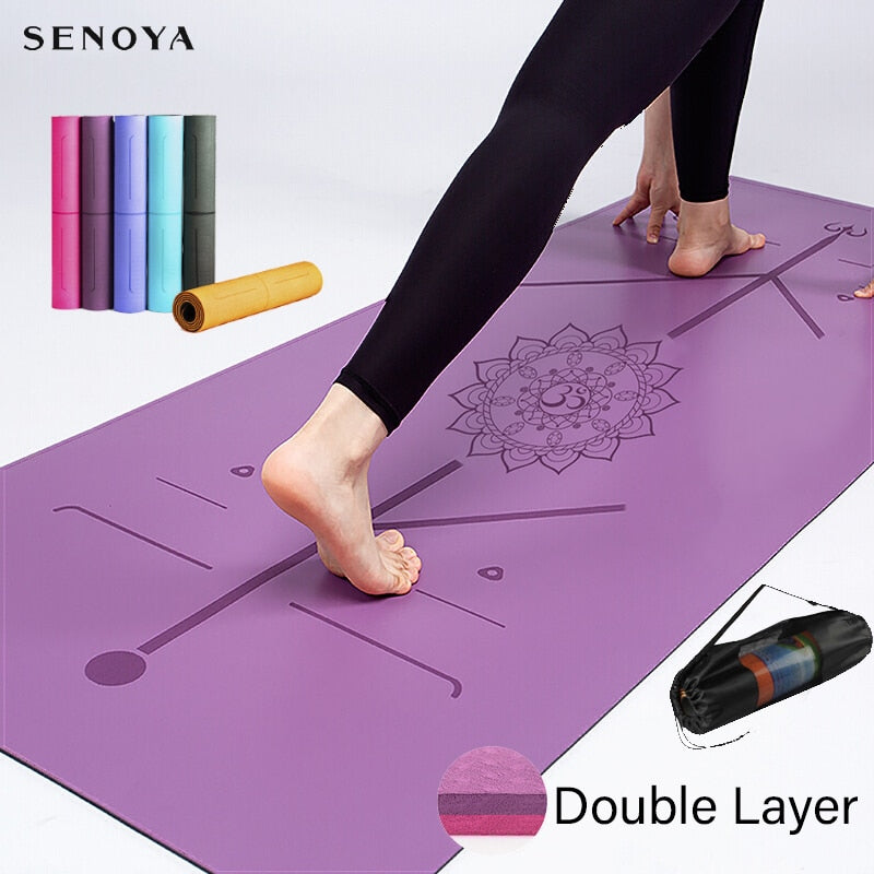 TPE Yoga Double Layer Non-Slip Mat