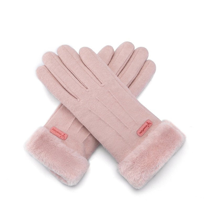 Genuine Wool Winter Warm Women Gloves