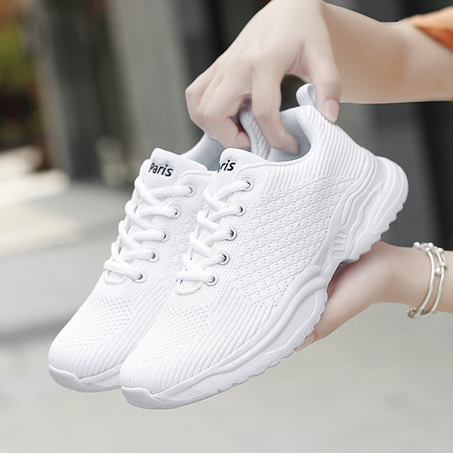 Sneakers Women Tenis Flat Shoes Lace Up