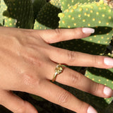 18k Gold Knot Stacking Ring