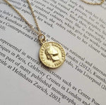 18k Coin Medallion Pendant Necklace