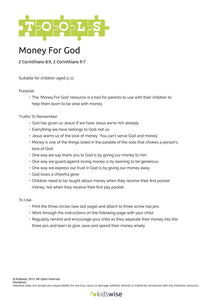 Tools: Money For God