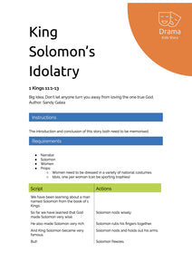 King Solomon's Idolatry
