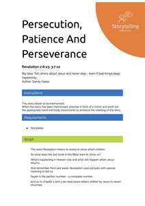 Persecution, Patience And Perseverance