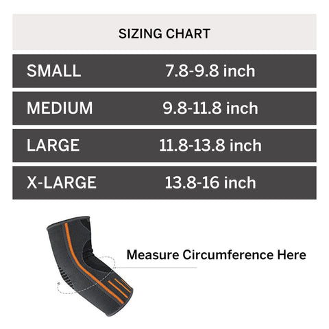Elbow Support Sizing