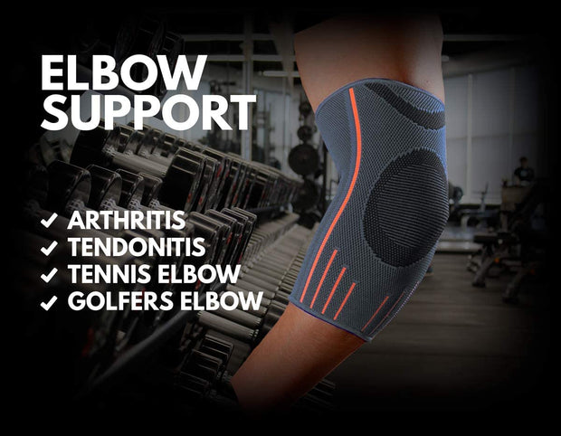 Elbow Support Sleeve, Grey (Compression)
