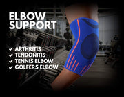 Elbow Support Sleeve, Blue (Compression)
