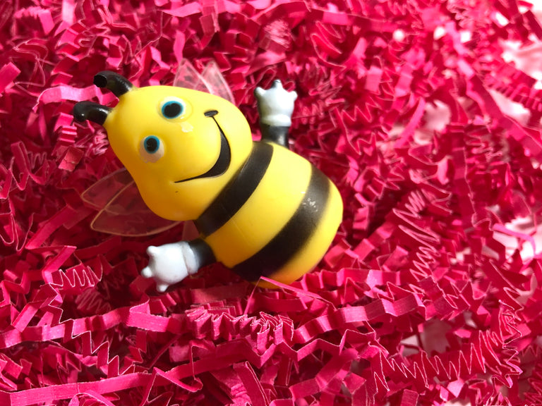 finger puppet, bumble bee, interactive play, pretend play