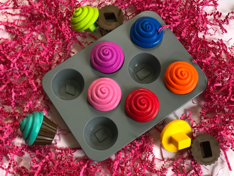 cupcake shape sorter toy, color recognition, fine motor skills, shape recognition
